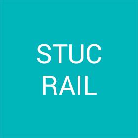 Stuc rail